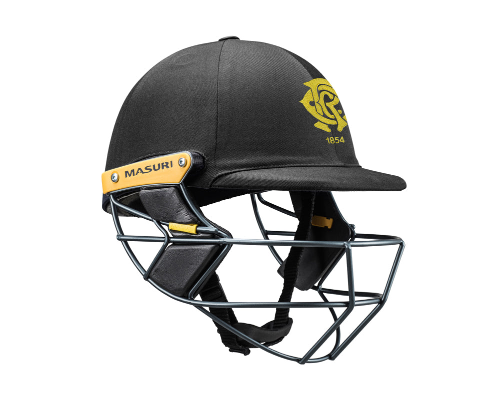 Masuri Original Series MK2 SENIOR Test Helmet with Steel Grille - Monash Tigers CC