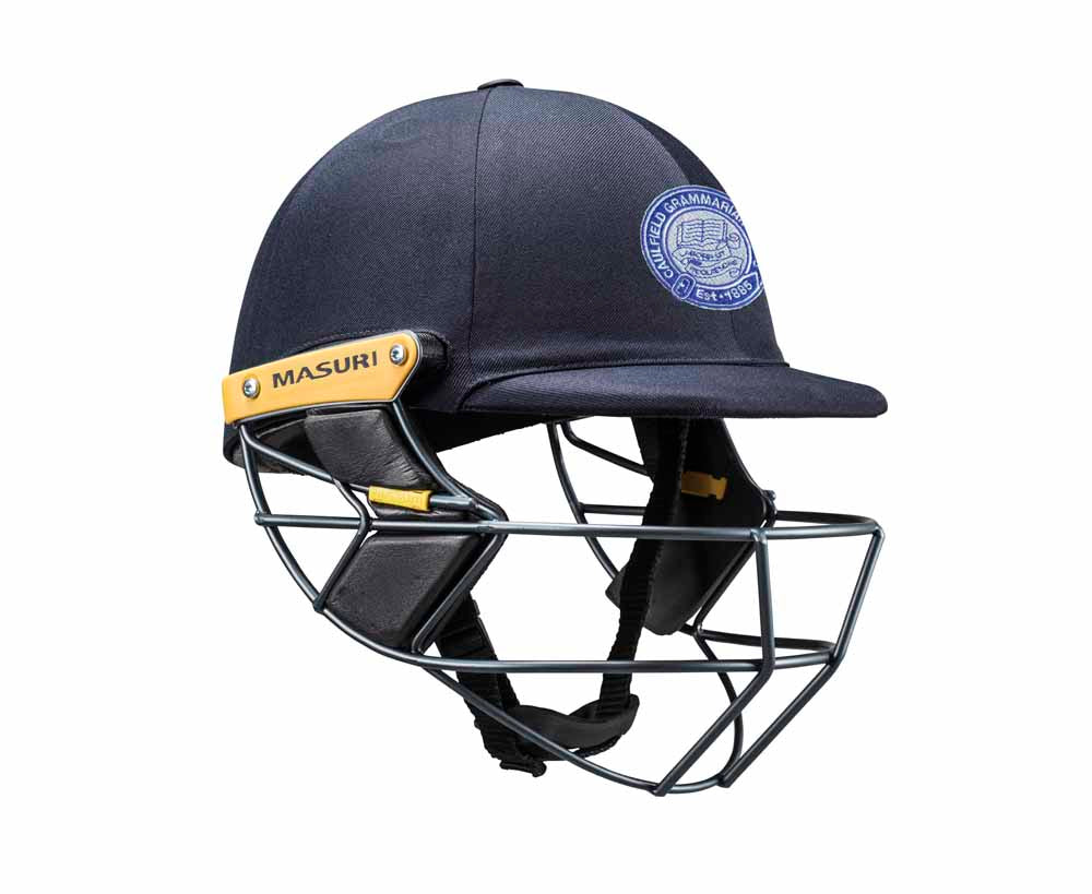 Masuri Original Series MK2 SENIOR Test Helmet with Steel Grille - Caulfield Grammarians/NCG CC