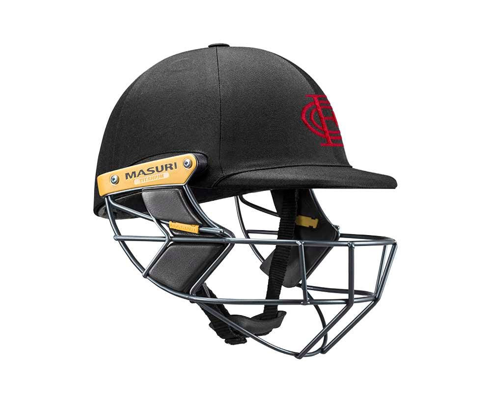 Masuri Original Series MK2 SENIOR Test Helmet with Titanium Grille - Essendon CC