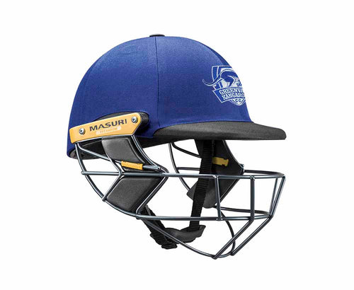Masuri Original Series MK2 SENIOR Test Helmet with Titanium Grille - Greenvale Kangaroos CC