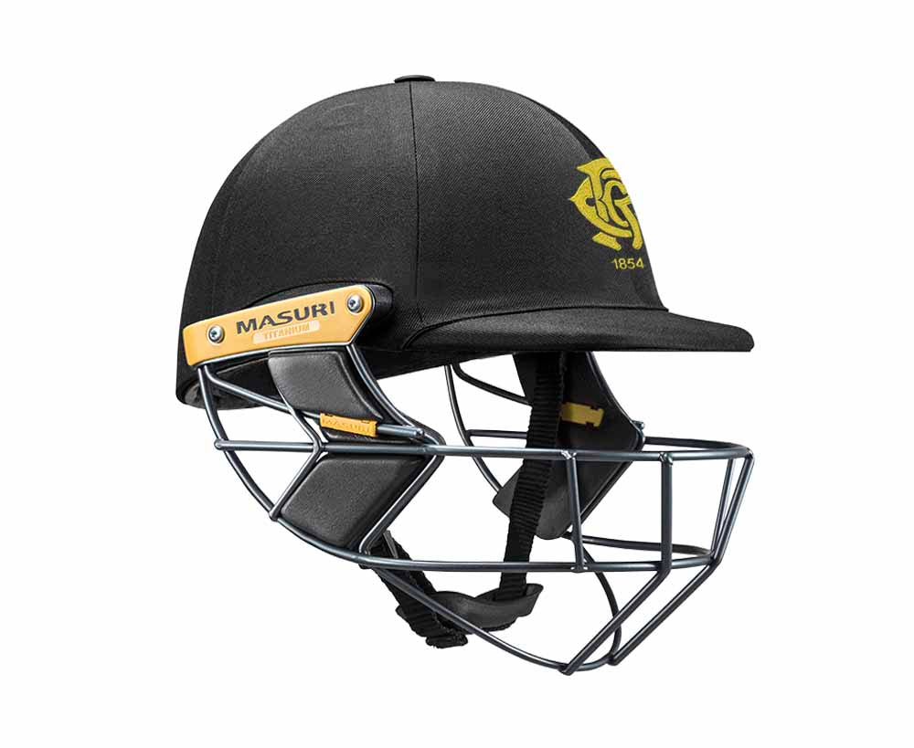 Masuri Original Series MK2 SENIOR Test Helmet with Titanium Grille - Monash Tigers CC