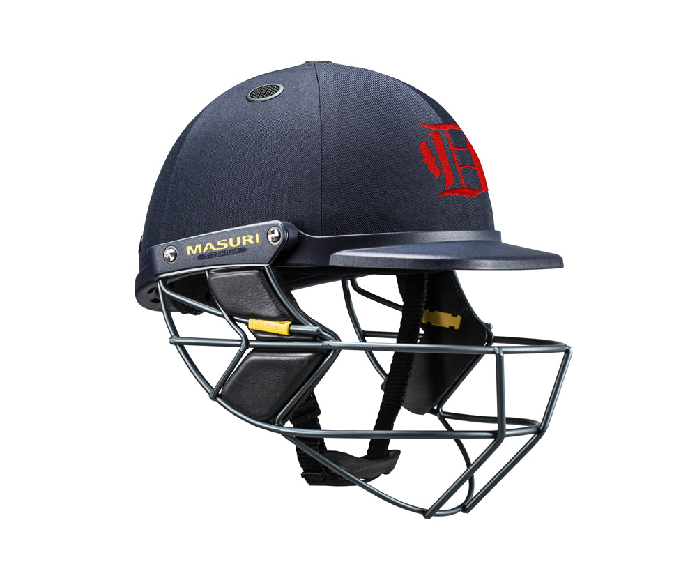 Masuri SENIOR Vision Series Test Helmet with Steel Grille - Dandenong CC