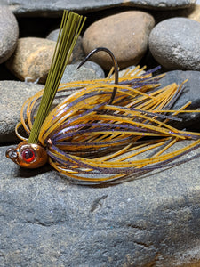 Amber Purple Craw Poison Jig