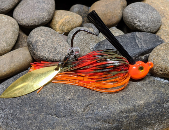 Fire Craw Flash Tail Swim Jig