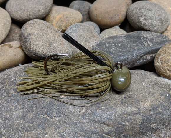 GVH Pro Series Football Finesse Jig Green Pumpkin