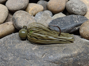 Green Pumpkin Pro Series Round Head Finesse Jig