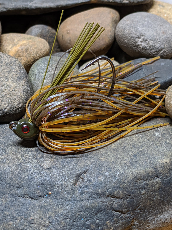 Pale Amber Craw Poison Jig
