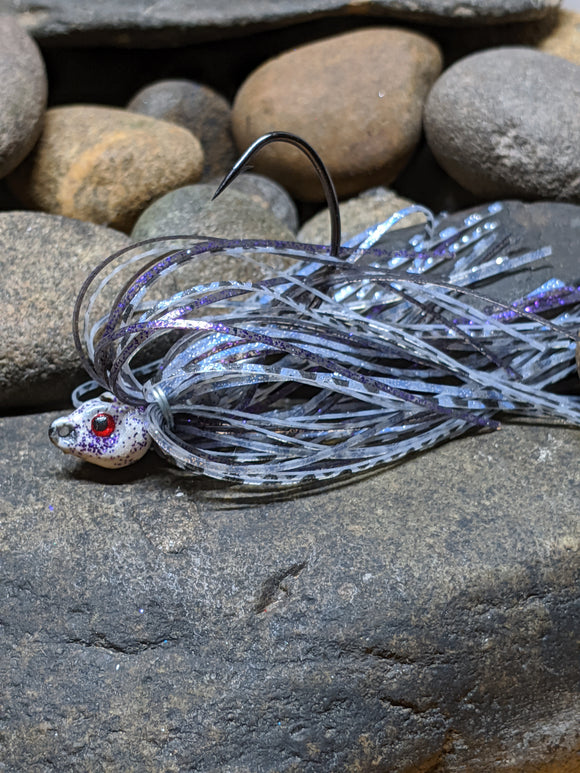 Purple Shimmer Shad Poison Jig