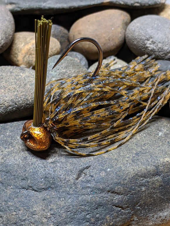Whiskey Craw Stand Up Football Jig w/Keeper