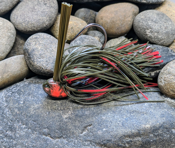 Pop's Red Belly Craw Brush Jig