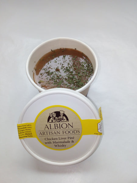 Chicken Liver Pâté With Marmalade & Whisky - albionartisanfoods