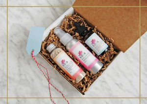 Happy Face Gift Set: Calendula & Rose