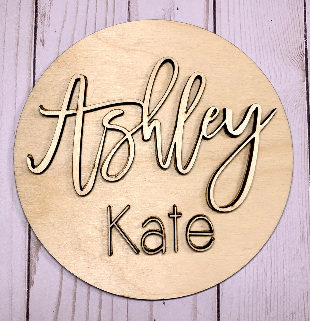 BARE WOOD DIY KIT- Wood Sign