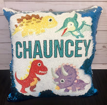 Baby Dino Custom Mermaid Pillow