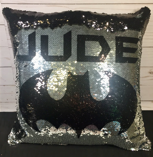 Bat Signal Mermaid Pillow