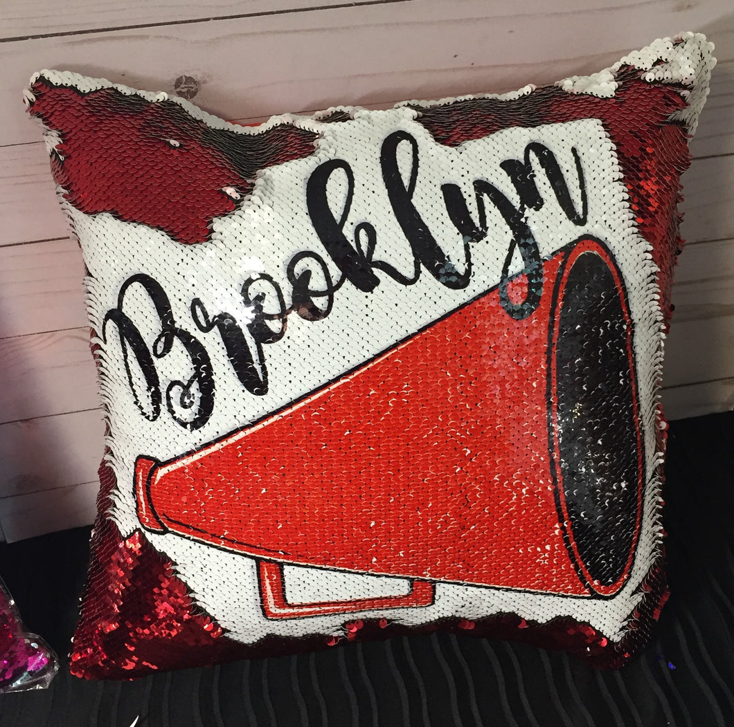 Megaphone Custom Cheer Mermaid Pillow