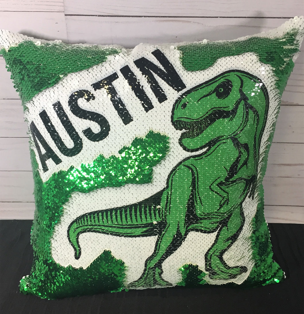 T-Rex Dinosaur Custom Mermaid Pillow