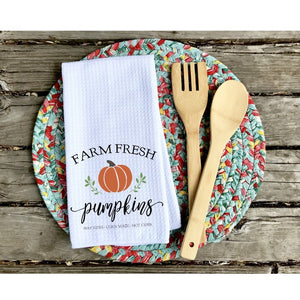 Farm Fresh Pumpkins Dish Towel