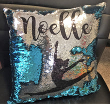 Gymnast/Dancer Silhouette Custom Mermaid Pillow