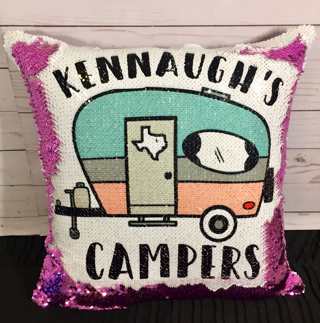 Happy Camper, Teacher Instructor Mermaid Pillow
