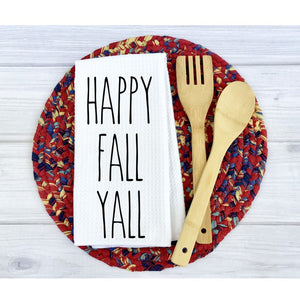 Happy Fall Y'all Rae Dunn Inspired Dish Towel