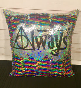 Always Deathly Hallows Harry Potter Inspired Mermaid Pillow