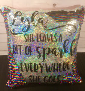 Leaves a Bit of Sparkle Mermaid Pillow