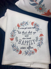 Let That Go Dish Towel - 24x16 Quick Drying Microfiber- Subtle Waffle Weave