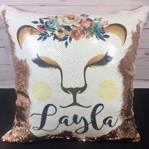 Lioness Custom Mermaid Pillow