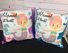 Mermaid at Heart Mermaid Pillow