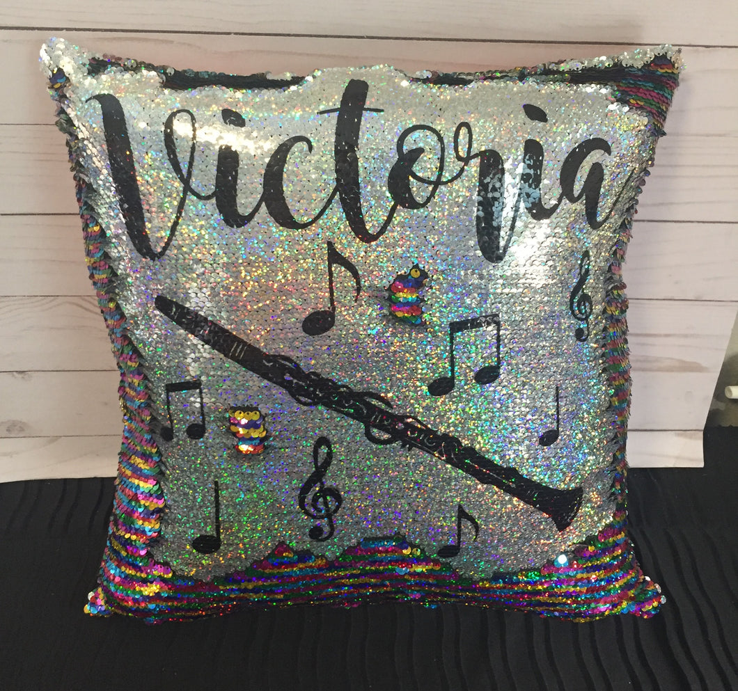 Clarinet Custom Mermaid Pillow- Custom