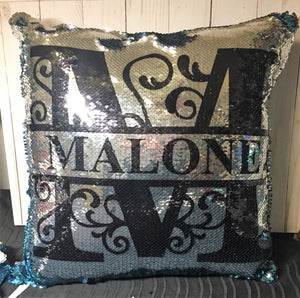 Ornamental Letter Custo Mermaid Pillow