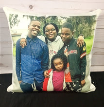Photo White Canvas Pillow