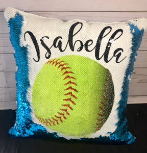 Softball Mermaid Pillow