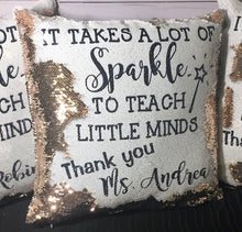 Sparkle to Teach Little Minds Teacher Mermaid Pillow