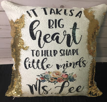 Big Heart Custom Teacher Mermaid Pillow