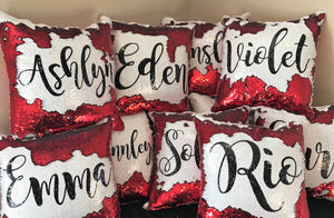 Name Only- Script Style Font- Custom Mermaid Pillow