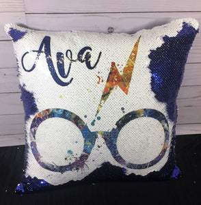 Watercolor Glasses Mermaid Pillow- Harry Potter Inspired