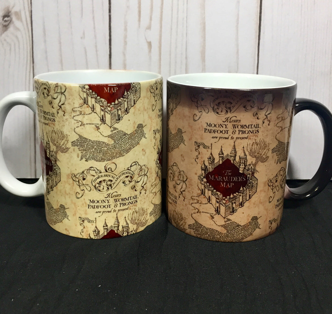Marauders Map Magic Color Changing Mug- Harry Potter Inspired