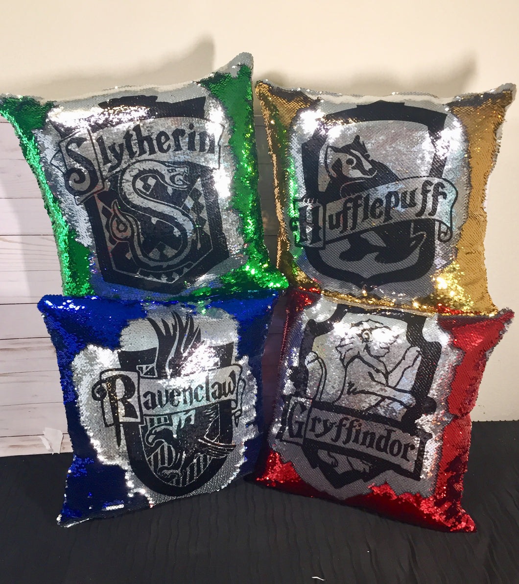 Harry Potter House Crest Mermaid Pillows