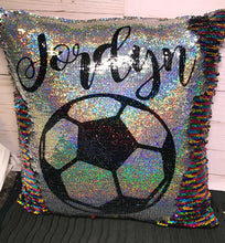 Custom Soccer Ball Mermaid Pillow