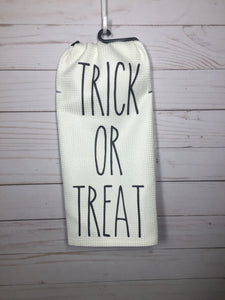 Trick or Treat Rae Dunn Inspired Dish Towel