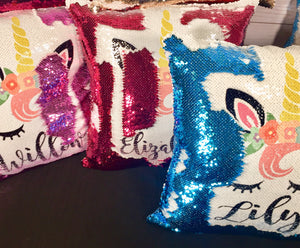 Unicorn Face Custom Mermaid Pillow