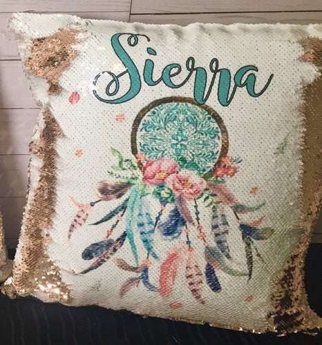 Dreamcatcher Custom Mermaid Pillow