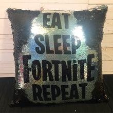 Eat Sleep Fortnite Repeat Mermaid Pillow