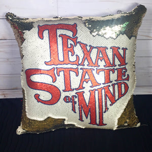 Texan State of Mind Mermaid Pillow