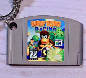 Diddy Kong Racing Nintendo 64 Double Sided Keychain with Tassel
