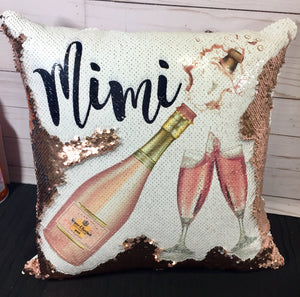 Pink Champagne Custom Mermaid Pillow U13