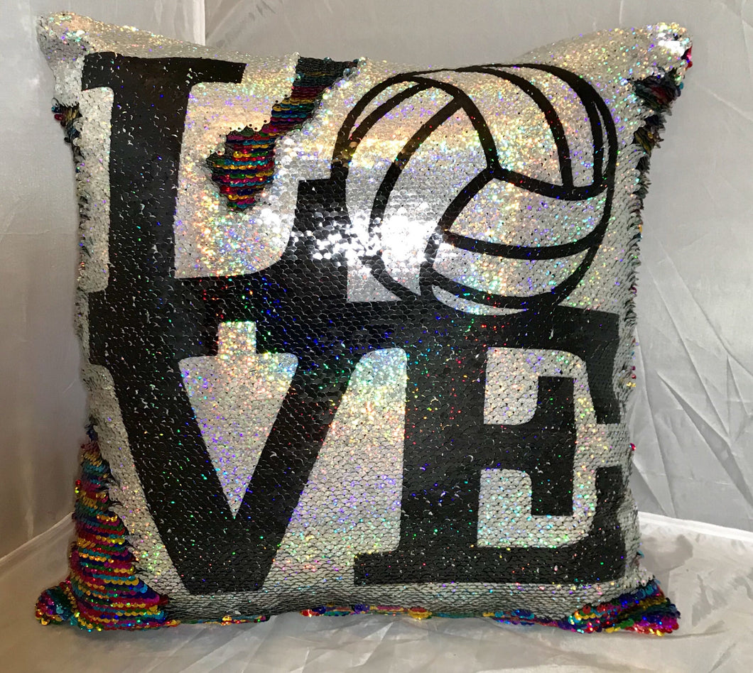 Love Volleyball Mermaid Pillow