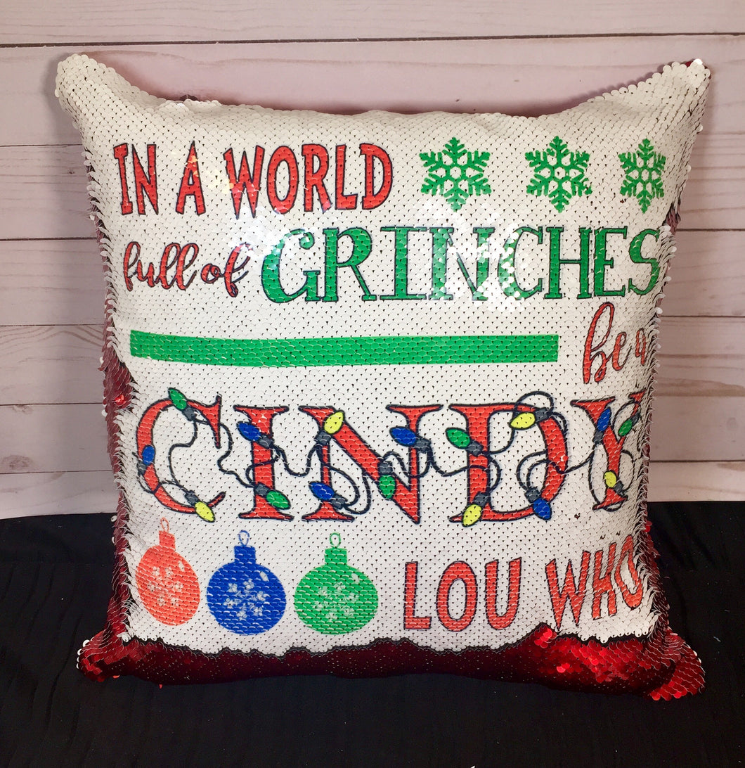 Cindy Lou Who Mermaid Pillow